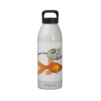 Cat Treats (Mice and Fish) Reusable Water Bottles