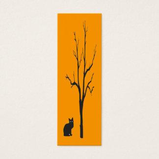 Cat & Tree Bookmark Mini Business Card