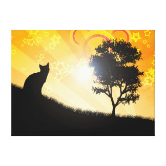 Cat Tree Canvas Print