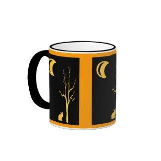 Cat, Tree & Moon mug
