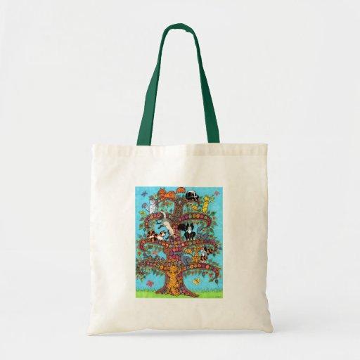 Cat Tree of Life 2 Tote Bag