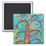 Cat Tree of Life 2 Inch Square Magnet