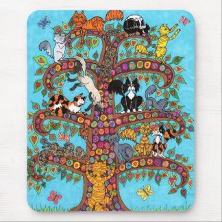 Cat Tree of Life 2 Mouse Pad