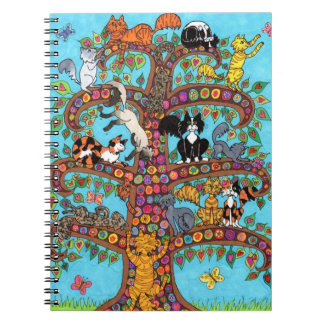 Cat Tree of Life 2 Spiral Notebooks