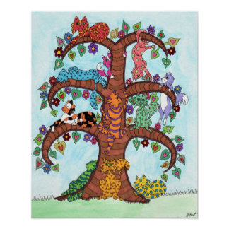 Cat Tree of Life 3 Poster