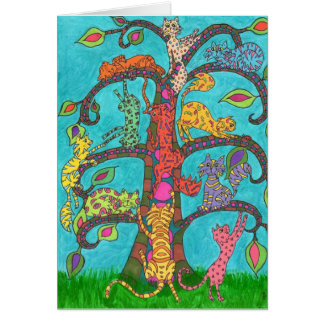 Cat Tree of Life Card
