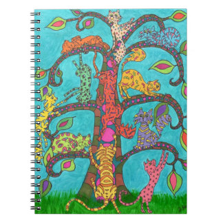 Cat Tree of Life Spiral Note Books