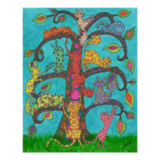 Cat Tree of Life Poster