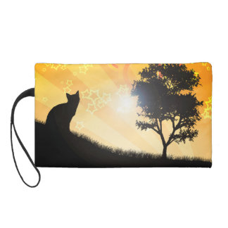 Cat Tree Wristlet Purse