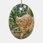 Cat trees Let It Snow Ornament