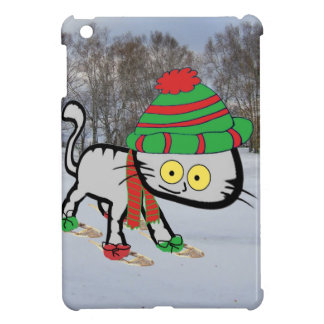 Cat trying his new Snow Shoes iPad Mini Cases