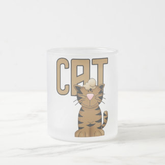 Cat Tshirts and Gifts 10 Oz Frosted Glass Coffee Mug