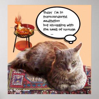CAT TURCO EN LA MEDITACIÓN TRASCENDENTAL POSTER