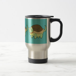 Cat Turtle Travel Mug