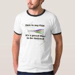 cat twisted t-shirt