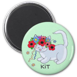 Cat Ukrainian Folk Art 2 Inch Round Magnet