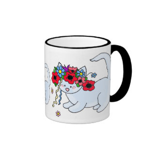 Cat Ukrainian Folk Art Ringer Mug