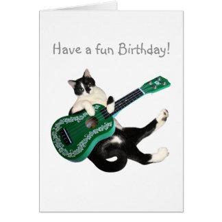 Cat Ukulele Birthday Card