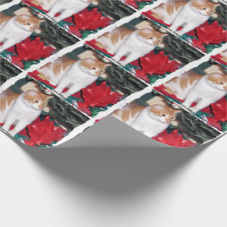 Cat under Christmas Tree Gift Wrap Paper