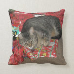Cat Under Christmas Tree Pillows