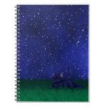 Cat Under Stars Notebook