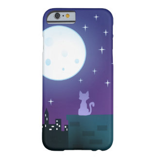 Cat Under The Moonlight Barely There iPhone 6 Case
