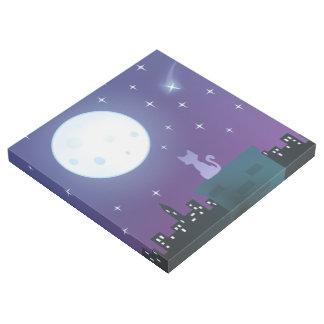 Cat Under The Moonlight Gallery Wrap