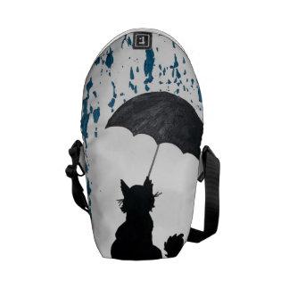 Cat Under Umbrella Courier Bag