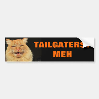 Cat unimpressed by Tailgaters Bumper Sticker