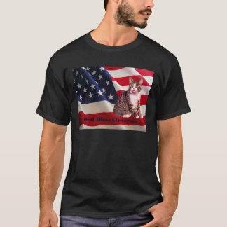 Cat Unisex T-Shirt God Bless America