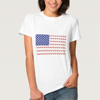 Cat/USA patriótico Playera