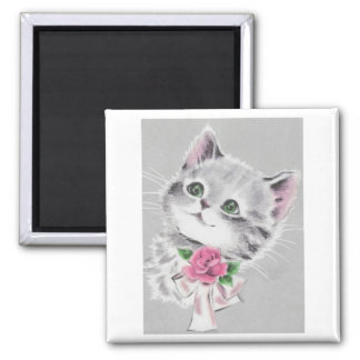 Cat Valentine Card Magnet