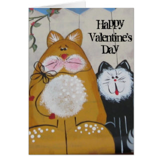 Cat Valentines day Card