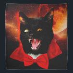 """cat vampire - black cat - funny cats bandana<br><div class=""""desc"""">pet , cat , &quot;cat memes&quot; , &quot;cute cats &quot;, &quot;cat love &quot;, &quot;domestic cat&quot; , feline , &quot;crazy cat&quot; , &quot;vampire cat&quot; , vampire</div>"""