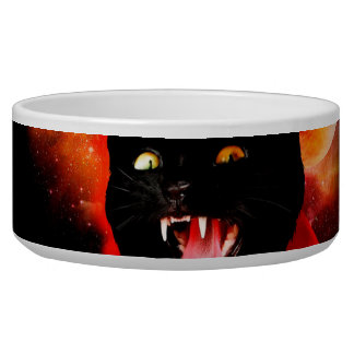 cat vampire - black cat - funny cats bowl