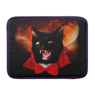 cat vampire - black cat - funny cats MacBook sleeve