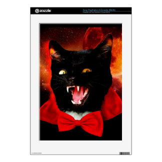 cat vampire - black cat - funny cats skin for the PS3 console