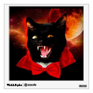 cat vampire - black cat - funny cats wall decal
