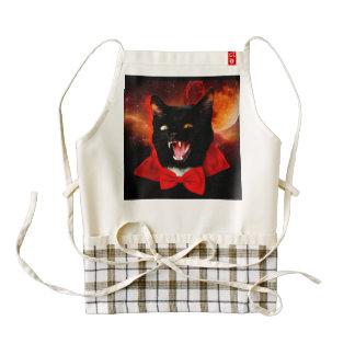 cat vampire - black cat - funny cats zazzle HEART apron