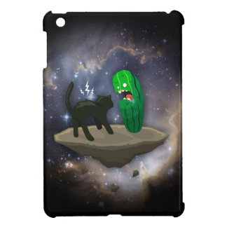 Cat versus Cucumber iPad Mini Cases