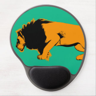 Cat Versus Lion Ready to Fight or Take On Gel Mouse Pad