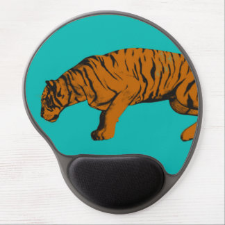 Cat Versus Tiger Ready to Fight or Take On Gel Mouse Pad