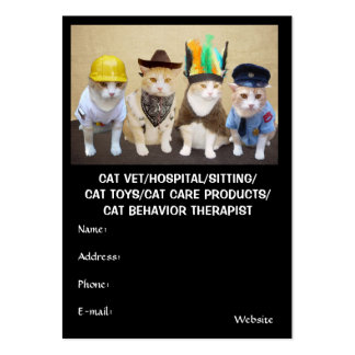 Cat Vet/Hospital/Sitting/Toys/Products/Therapist Large Business Card