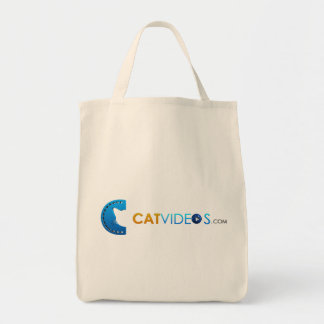 Cat Videos eco friendly grocery tote bag