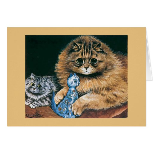 Cat Vintage Card