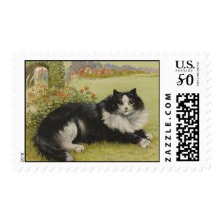 Cat Vintage Postage