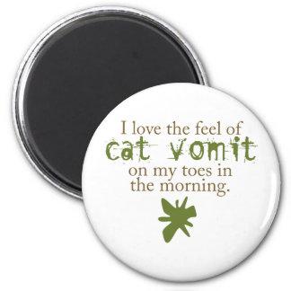 Cat Vomit 2 Inch Round Magnet