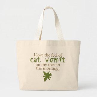 Cat Vomit Large Tote Bag