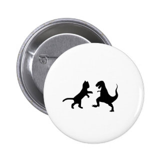 cat vs t-rex 2 inch round button