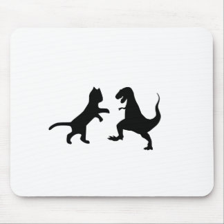 cat vs t-rex mouse pad